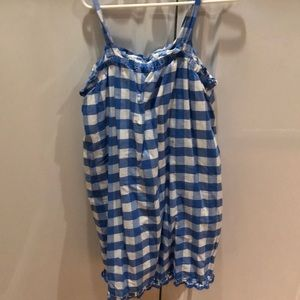 Other - Gap gingham dress in blue and white